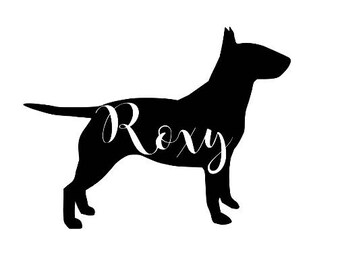 Bull Terrier  Silhouette Customized Decal Dog Sticker