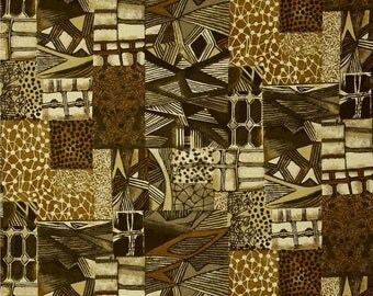 fabric patchwork African style bronze JAKARTA Hoffman fabrics