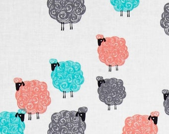 fabric Michael Miller kids patchwork with sheep Eyes on Ewe