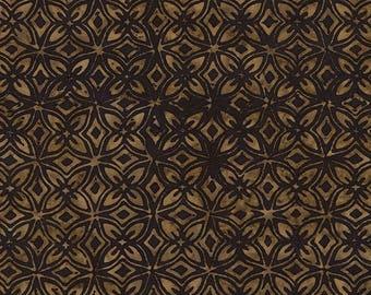 Tonga batik black and Tan collection Chai patchwork fabric