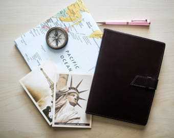 """Leather Travel Journal - """"Castagna"""" by Fortessa 