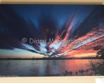Sunrise of Columbia River, WA