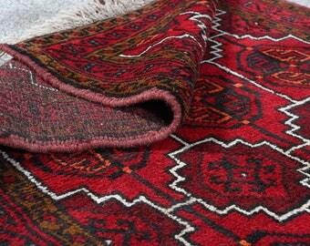 "5'4"" x 3'9"" Antique Persian rug Vintage Persian rug Large Persian wool rug Hand knotted Persian rug Great Condition S1679"