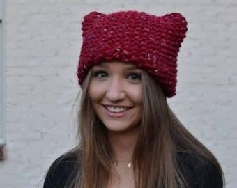 Red Cat Ear Hat