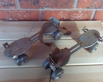 Vintage Metal Roller Skates Speedster Metal Wheels, Vintage Toy, Speedster Roller Skates, Metal Toy