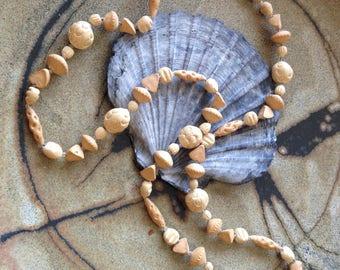 Vintage pottery necklace
