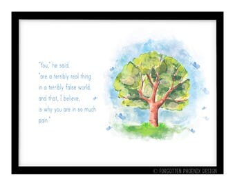 FP1004 Unusual Quote Alice in Wonderland Gift Art Print Poster