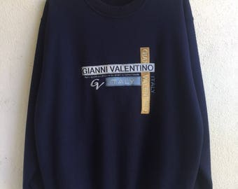 Vintage gianni valentino sweatshirt / gianni valentino sweater / size large