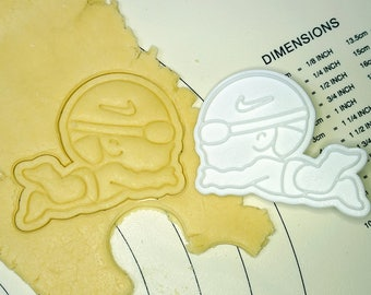 Swimming Boy Cookie Cutter and Stamp