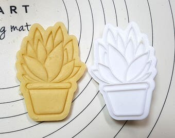 Succulent Santorini Cookie Cutter and Stamp