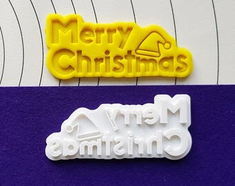 Merry Christmas Cookie Cutter and Stamp