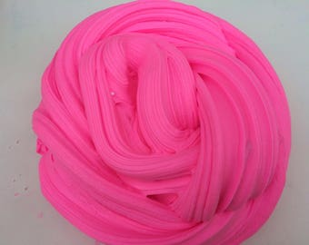 Neon pink Barbie butter slime. Custom your own glitter