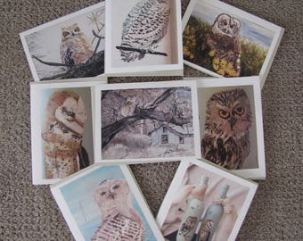 Notecards - Owls (8 Individual prints)