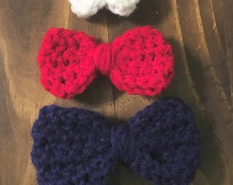 Large Crochet Bow