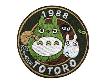 1988 totoro Iron on patch Patch Embroidered  Applique go37