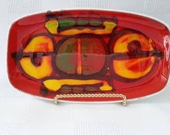Retro Delphis Poole Pottery Tray c.1960