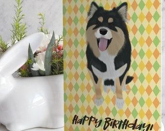 Card - Birthday - Lapphund Zoey