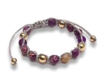 Jahamota Spiritual Bracelet - Purple Spring