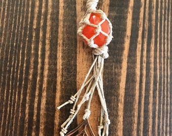 The Energy Giver: crystal hemp necklace