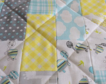 Patchwork Quilt // Baby Blanket // Play Mat // Lap Blanket // Cot Blanket // Nursery // Chair Cover // Baby Gift // New Baby