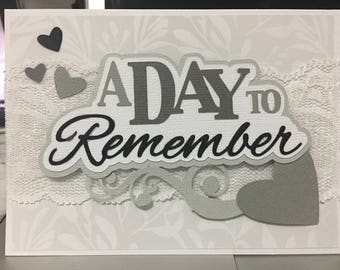A day to remember wedding congratulations card