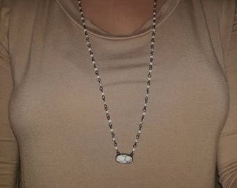 Marble bead necklace