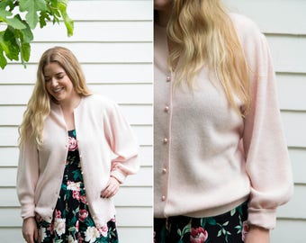 Lambswool Angora Blend Light Pink Ballerina Cardigan