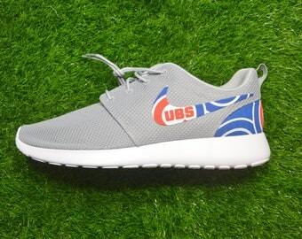 Chicago Cubs Custom Nike Roshe Run One Shoe Sneaker - Grade School Boys'  Girls'