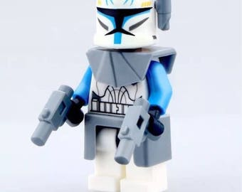 Building block Star Wars clone wars captain rex with accessories.