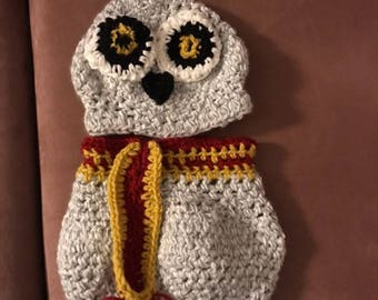 Harry Potter Owl Baby Knit Outfit
