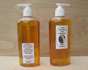 100% All Natural Dog Shampoo (8 oz bottle)