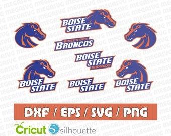 Boise State Broncos Svg Dxf Eps Png Cut File Pack