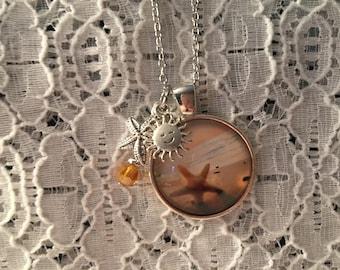 Lone Starfish Charm Necklace/Starfish Jewelry/Starfish Necklace/Starfish Pendant/Beach Jewelry/Beach Pendant/Beach Necklace
