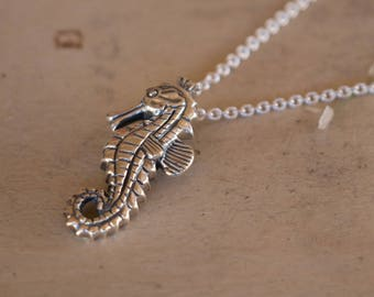 Seahorse Necklace Charm, Sterling Silver Seahorse Pendant, Silver Necklace Charm, Seahorse Jewellery, Silver Seahorse, Silver Pendant Only