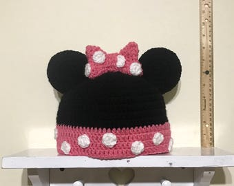 Minnie Mouse Inspired Hat Child Size