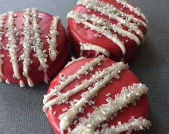 Ohio State University Chocolate Covered/Dipped Oreos, OSU Oreos,  Ohio State University Cookies, OSU Treats/Snacks/Food, OSU Football Party