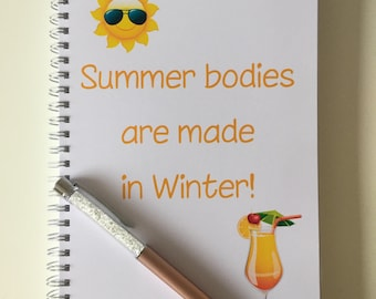 Slimming World Friendly - Food Planner Diary - Diet Tracker - Food Log - 8 Week / 12 Week Planner - Summer Bodies are Made in Winter
