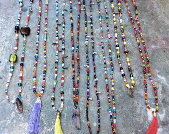 "Long necklaces ""hodgepodge"""