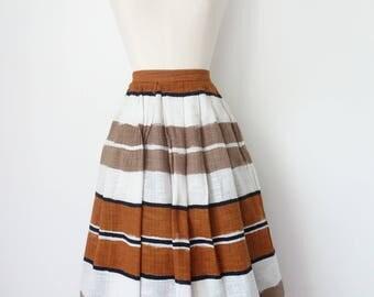 Vintage 1950s Designer Full Cirle Skirt, by Jaegar London