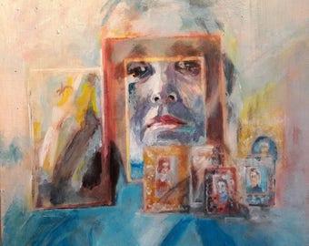 Portrait 4, acrylic pp Canvas panel