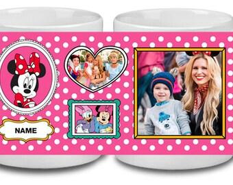 Minnie Mug, Minnie Name Mug, Disney Name Mug, Minnie Mouse Mug, Personalized Mug, Minnie Mouse Mug, Disney Fan Gift, Mickey Minnie Mug