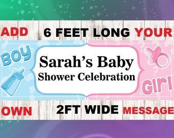 gender reveal, baby shower, gender reveal ,banner gender, banner baby, reveal boy girl party, is it a boy, is it a girl