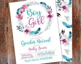 Gender reveal invitation etsy stopboris Image collections
