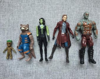 Guardians of the Galaxy 5 figures set action figures Gaurdians of the Galaxy birthday party gifts cake toppers movie Groot Star Lord