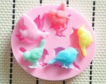 birds theme silicone mold
