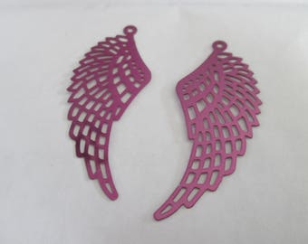 prints 2 wings filigree fuchsia metallic 50 x 20 mm