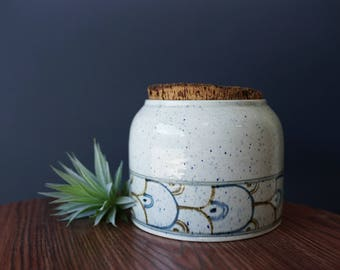 Vintage Pottery with Original Cork Lid