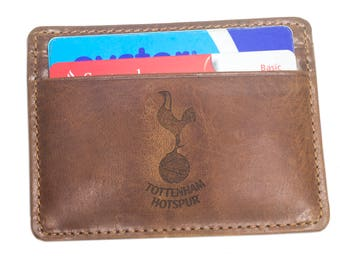 LASER ENGRAVING + Real Leather Credit ID Business Card Holder Personal Card Holder Put On Any Image