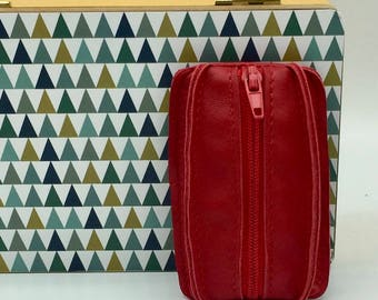 Wallet soft red