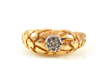 14K Lady's Nugget Ring with Diamonds - X4295